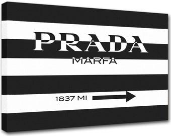 prada marfa canvas etsy. Black Bedroom Furniture Sets. Home Design Ideas