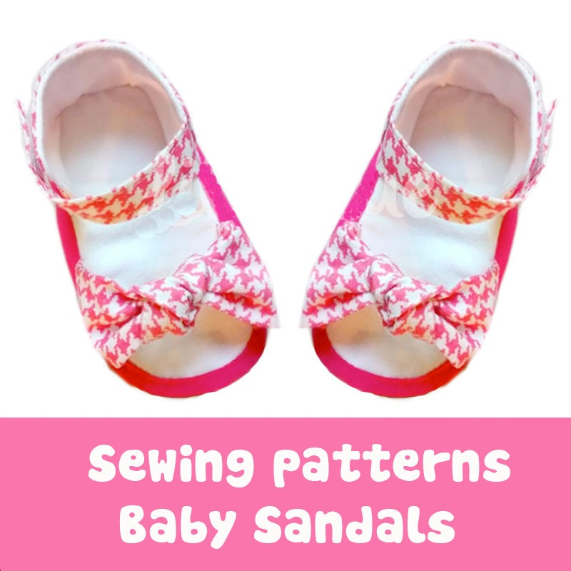 Baby shoe Sewing pattern baby sandal Bow accesory for summer