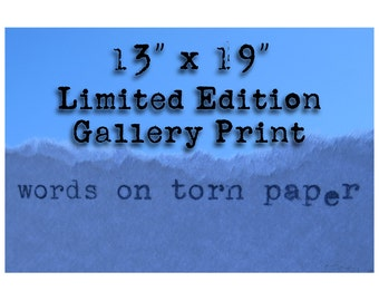 """13"""" x 19"""" Limited Edition Gallery Print"""