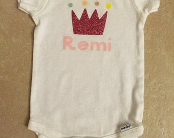 Personalized Crown Onesie