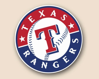 "TEXAS RANGERS Set of 2 Vinyl Cornhole DECAL Logo Wall Sticker Car Truck 12"" Size"