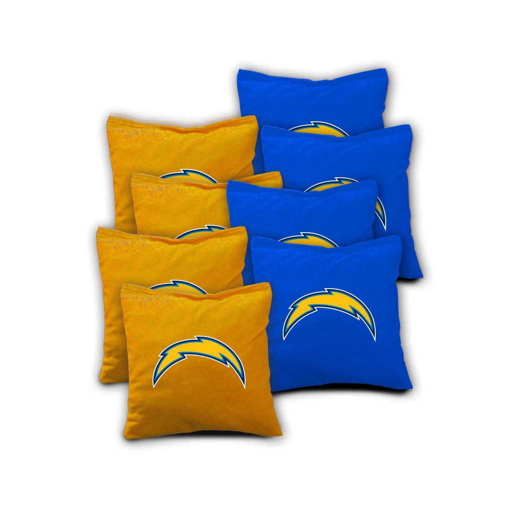 San Diego Chargers Backpack: SAN DIEGO CHARGERS Set Of 8 Regulation Cornhole Bags Bean Bag