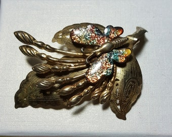 vintage rare beautiful butterfly brooch