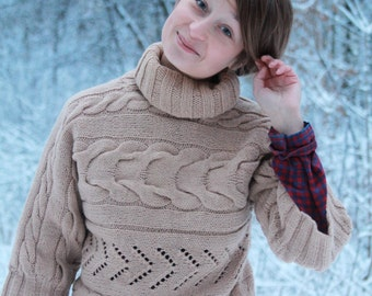 Fashion sweater knitwear/ Oversized knit sweater/ MADE to ORDER/ Hand knit Sweater/ Women's sweater