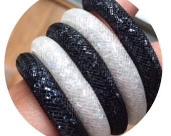 Pack 5 bracelets mesh B & W Bluefish