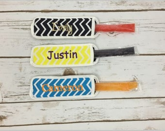 Popsicle Holder - Chevron Popsicle Holder - Personalized Freeze Pop Holder - Popsicle Sleeve - Neoprene Popsicle Holder - Ice Pop Holder