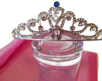 Baby Shower Tiara Crown Personalized New Mom Baby Rhinestones Customized Initial Birthstone