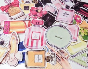 Planner Luggage Stickers - Perfume luxury Inspired