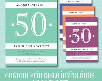 Best Year Yet Birthday Invitation, Printable Invitation, BIRTHDAY PARTY INVITATION, Simple, Digital, Customizable, Birthday, Birthday Party