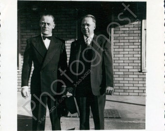 Ready for the Opera! Men in Tuxes - Swanky -  Vintage Snapshot - 1940s 1950s