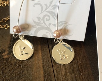 Mongram Stamped Earring