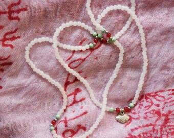 White Bead Neckalace from Beijing