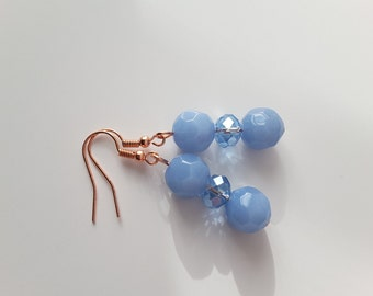 Periwinkle Blue Crystal Drops