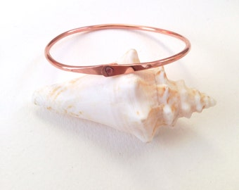 Riveted copper bangle