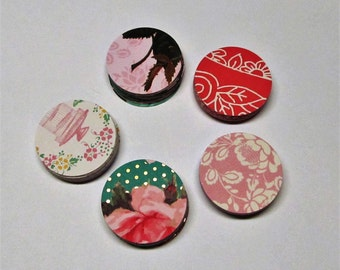 100 Round Designer Pattern Gift Tags - Assorted Patterns of (5) Cardstock - Boutique Tags - Bridal tags - Price tags - Merchandise Tags