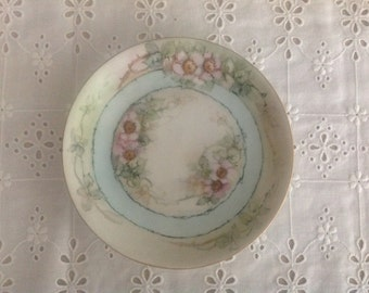 Very Old Hand-painted Hulschenreuther Gelb Bavarian Plate Dogwood