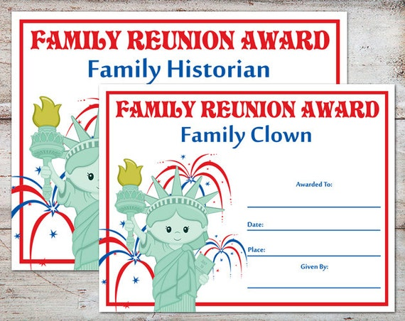 Family reunion certificates printable hot girls wallpaper for Free printable family reunion certificates