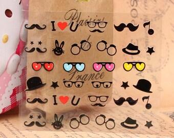 Nail Sticker , mustache nail , nail deco ,Nail Art  , nail accessory,nail decoration ,