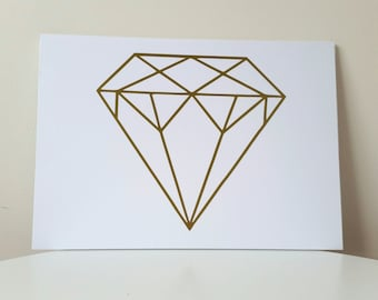 Geometric Diamond A4 Artwork
