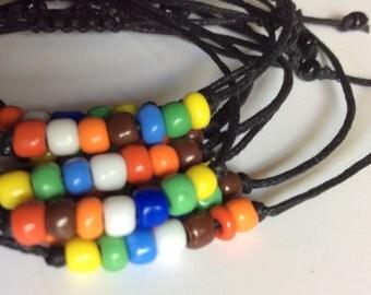 Seven Colors Macrame' Bracelet