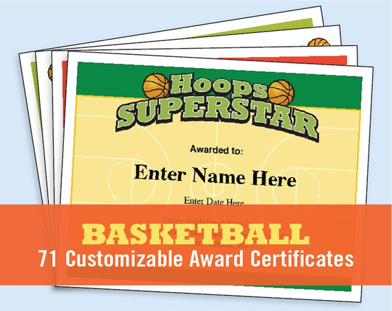 Basketball certificates kid certificates child certificate basketball certificates kid certificates child certificate basketball award certificate templates basketball mom etsy top sellers yadclub Choice Image