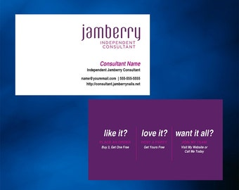 Jamberry Nails Business Card - Horizontal with optional back side