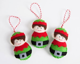 Personalised Elf Christmas decoration.