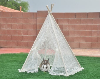 Doll Lace Kids Teepee, Kids Play Tent, Childrens Play House, Tipi,Kids Room Decor