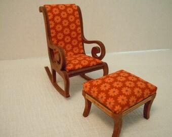 Miniature rocking chair ~ Handmade ~ Artisan ~ Lynnfield ~ Vintage ~ Fairy garden ~ Dollhouse ~ Terrarium ~ Accessories