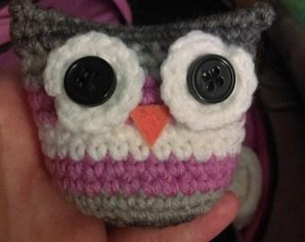"Demigirl Pride Owl - 3"" Crochet Owl in Demigirl Pride Colors"