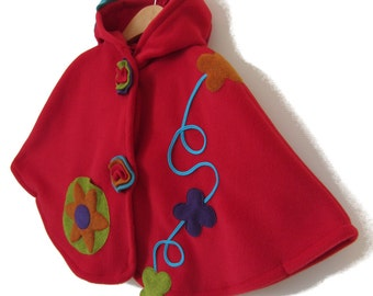 Cape polar Pixie hood 2 - 6a Red Riding Hood
