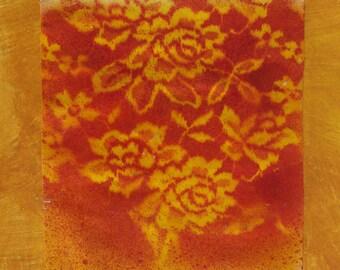 Orange Buttercream Original Paper Painting