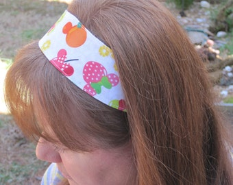 Minnie Mouse Fruits Reversible Headband.