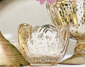 """Gold Mercury Glass Style Votive 2.5"""" Tall Pack of 6 Holders"""