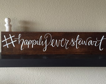 Wedding Hashtag Sign