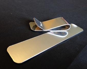 16 Gauge - Aluminum Money Clip Stamping Blanks, Aluminum Stamping Blanks, Metal Stamping Blanks, Stamping Blanks Co.