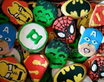 Super hero cookies (12 cookies)