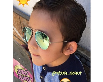 Green Eyed Monster Sunglasses, children sunglasses, kids sunglasses, aviator glasses, vintage inspired,