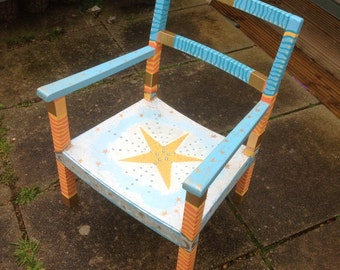 OOAK child's star chair (made to order)