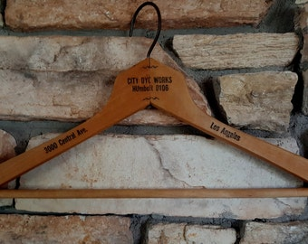 Vintage Coat/Clothes Hanger from City Dye Works - Los Angeles