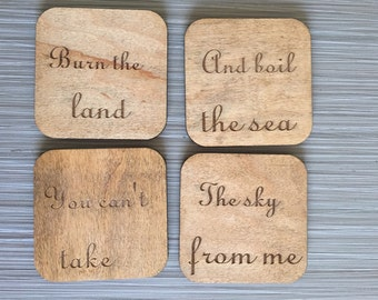 Wood Coasters: Firefly TV Show Inspired