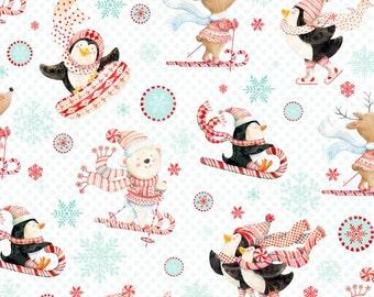 Peppermint Penguin Fabric