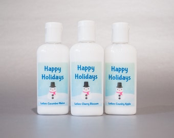 Personalized. Snowman. 1oz Lotion or Sanitizer
