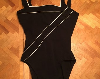 Vintage black one piece swim suit