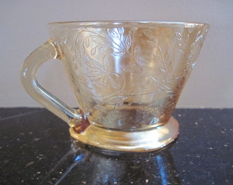 Floragold Cup-Jeannette Glass - Item #1146