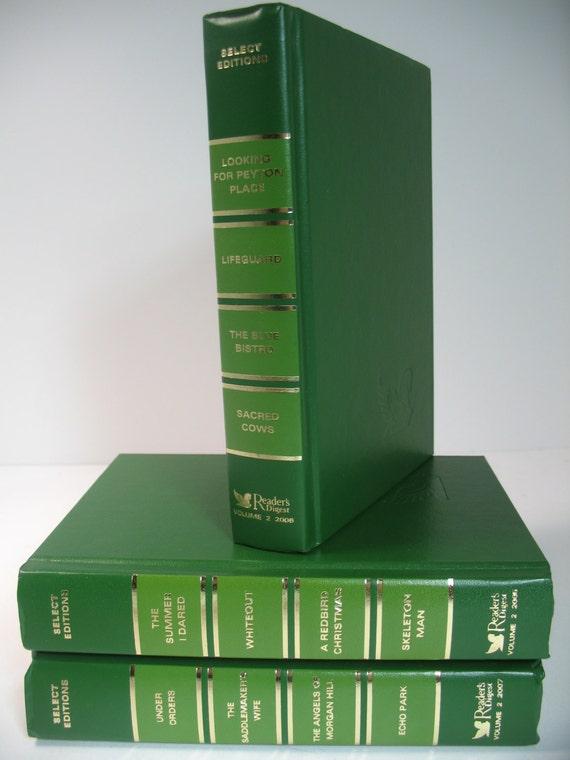 Modern 3 book decorative display set green spring green - Decorative books for display ...