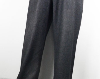 Vintage Charcoal Grey Wool Classic Trousers  Size M