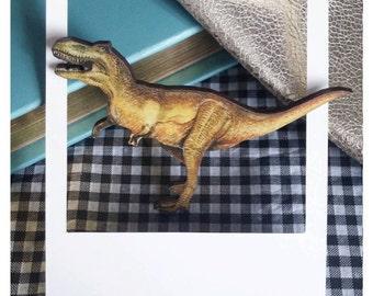 T-Rex Dinosaur Brooch/Badge