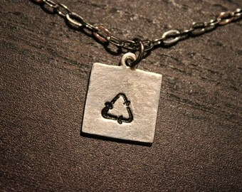 Recycle Symbol Necklace