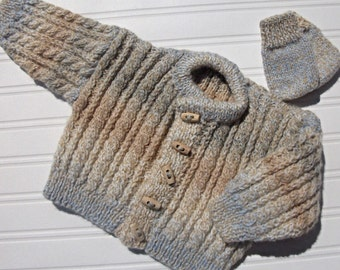 Baby's knitted cardigan